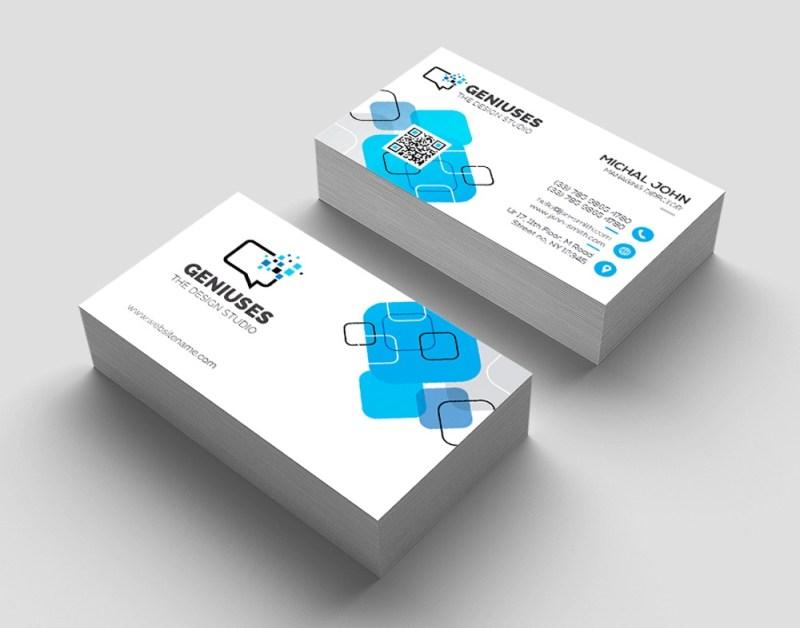 business card template photoshop design easy editable