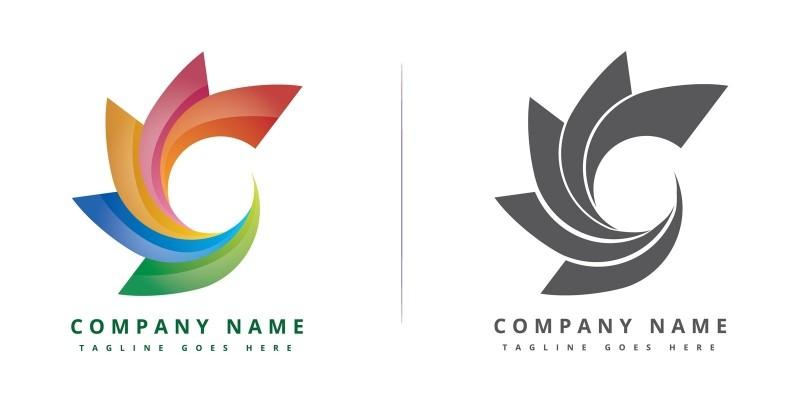 colorful circle company logo design vector okanmawon