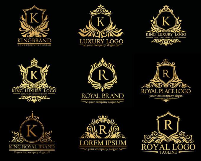 design luxury classic royal logo daviddesignes fiverr