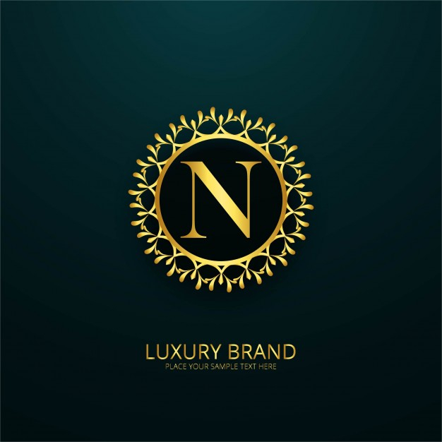 free vector luxury letter n logo