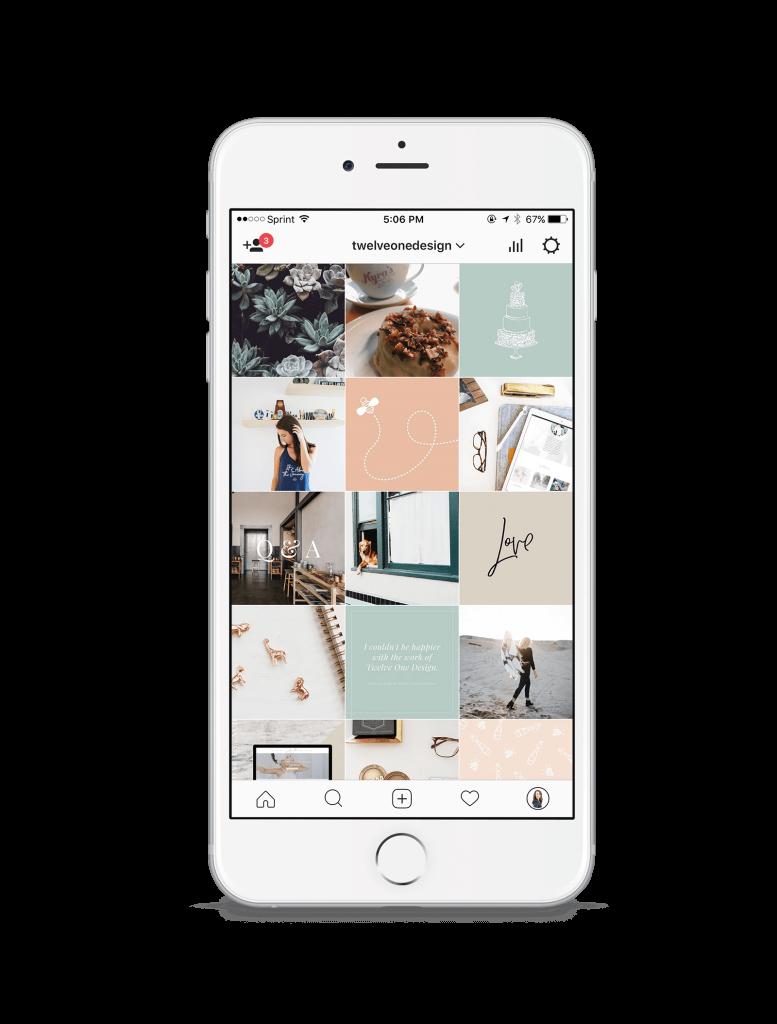 instagram mockup twelve one design