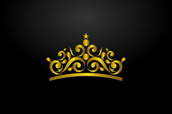 luxury crown logo graphic hartgraphic creative fabrica