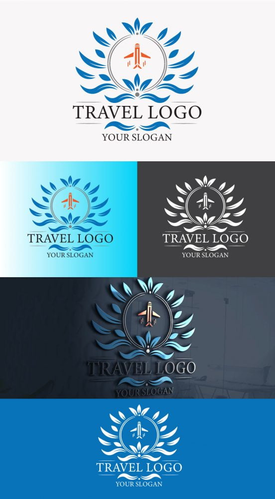 luxury travel logo design free ai download graphicsfamily