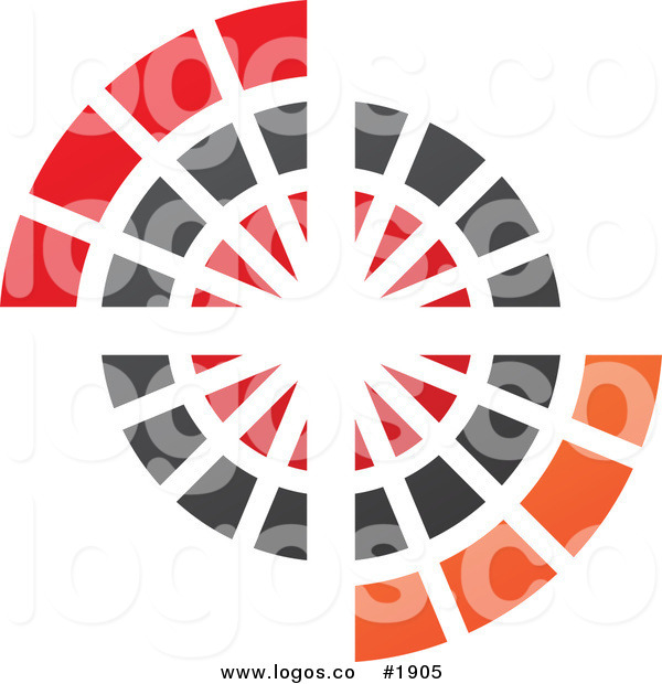 royalty free circle design logo cidepix 1905