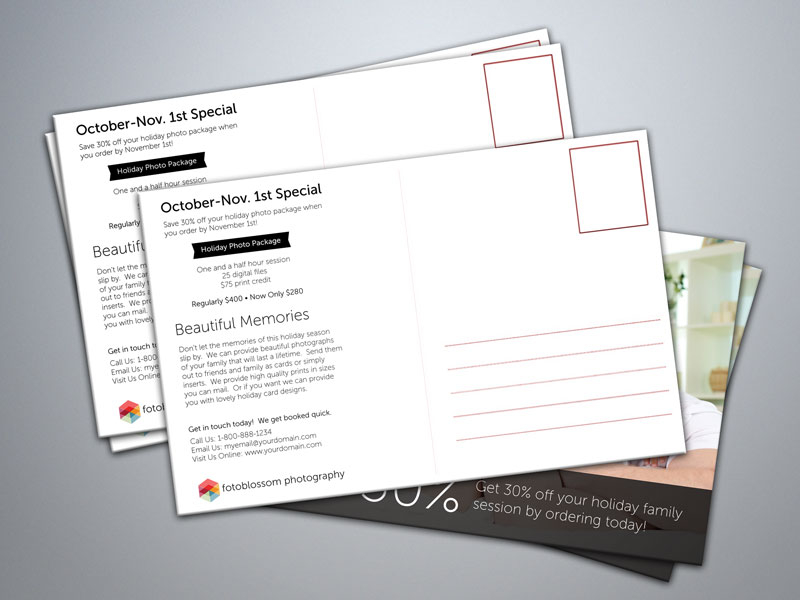 5 free postcard templates for photographers
