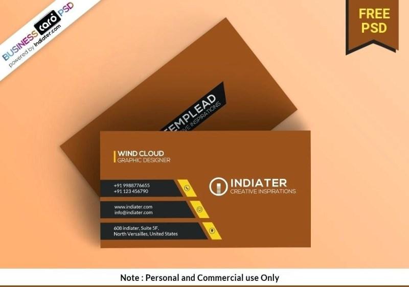 business card photoshop template psd