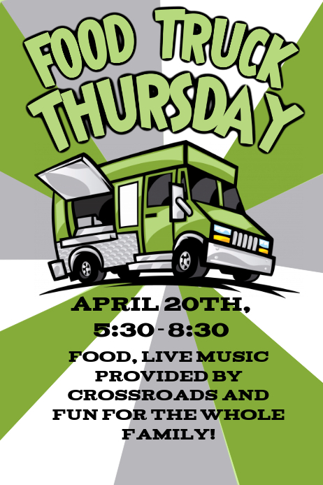 food truck flyer template postermywall