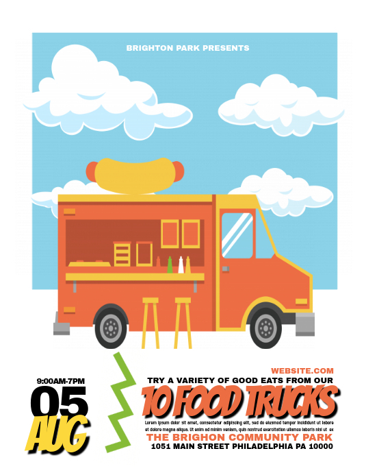 food truck template postermywall