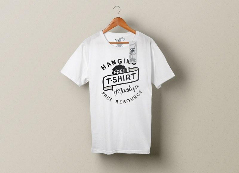 free hanging t shirt clothing tag mockup psd good mockups