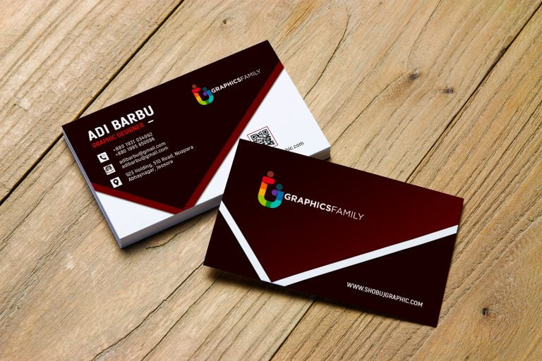 free photoshop graphic design business card psd template