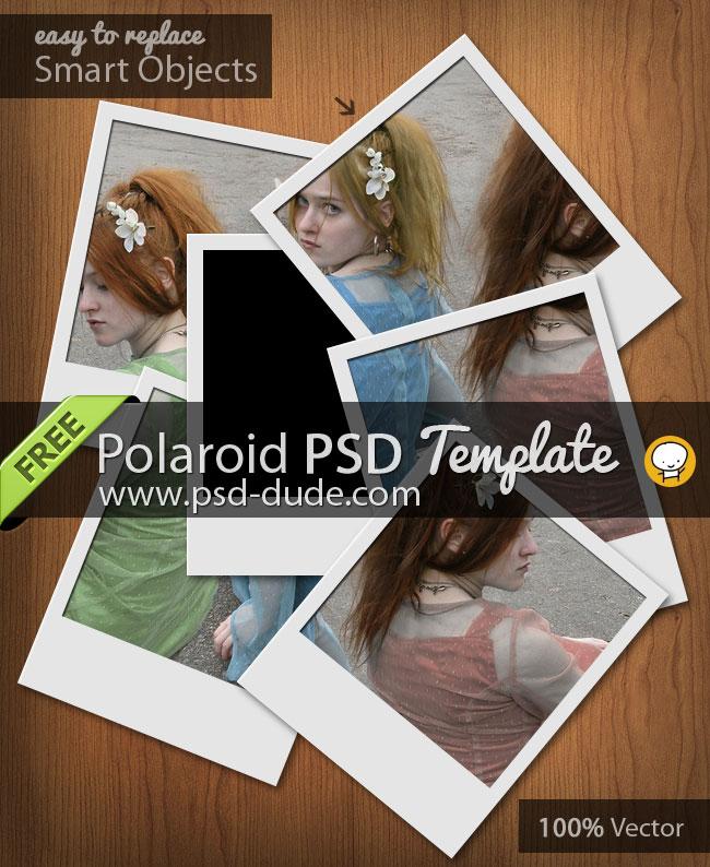 free polaroid mockup psd templates psddude
