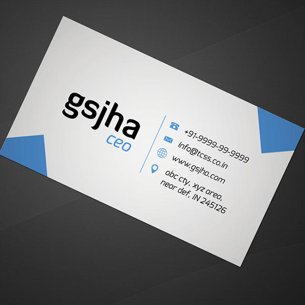 simple business card photoshop template free on behance
