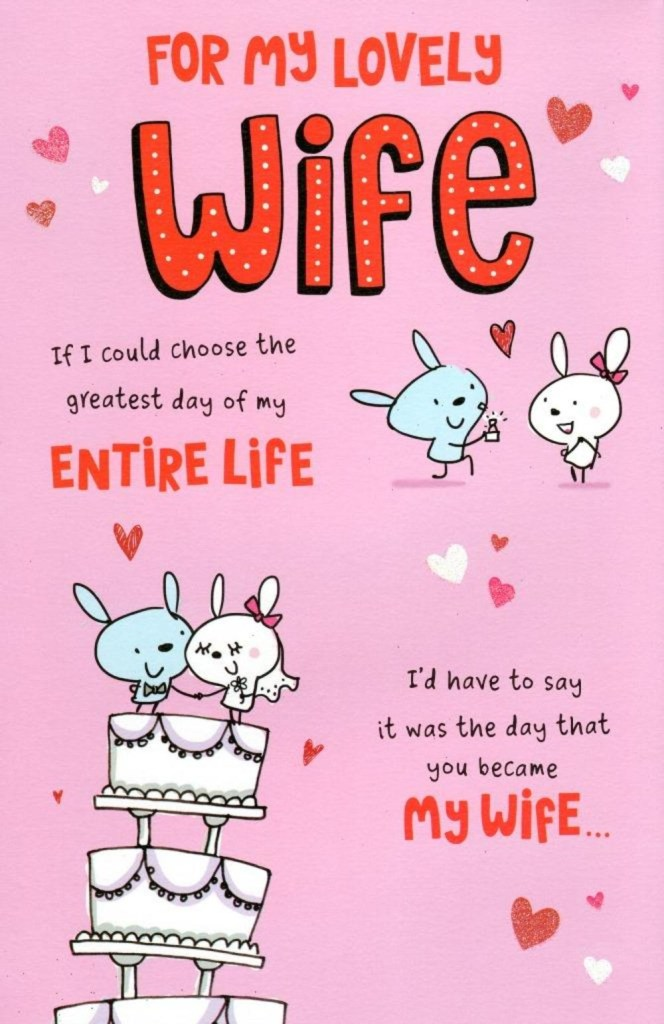 to my lovely wife valentines day greeting card cards