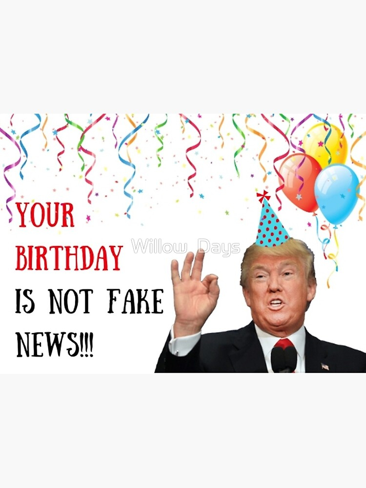 trump birthday card meme news word