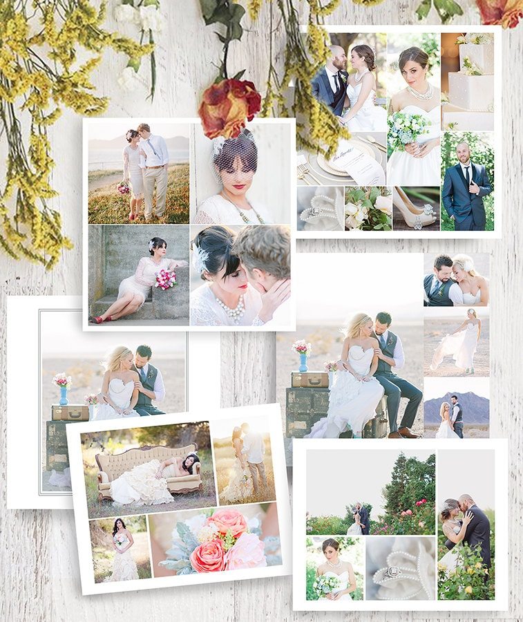 wedding collage photoshop template collection wedding etsy