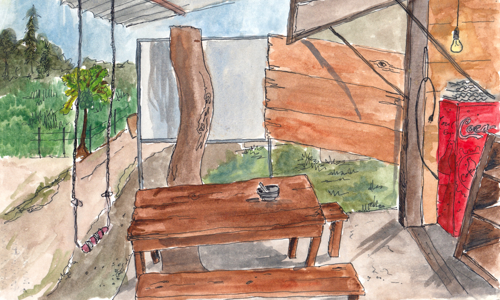Sketching Nepal: At home in the jungle
