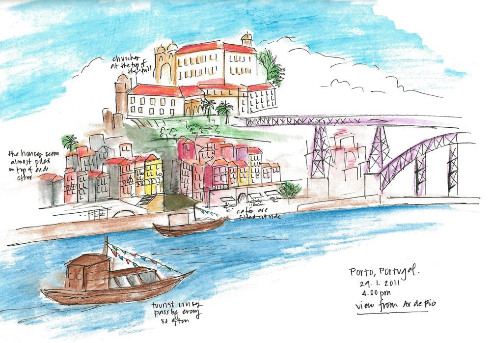 Travel sketch Portugal