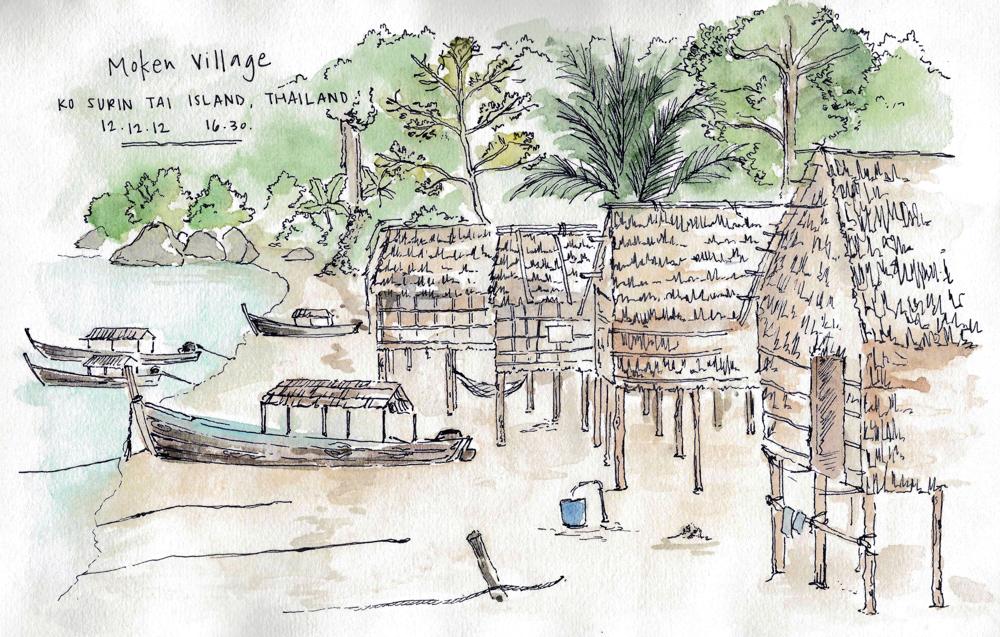 Travel sketch Thailand