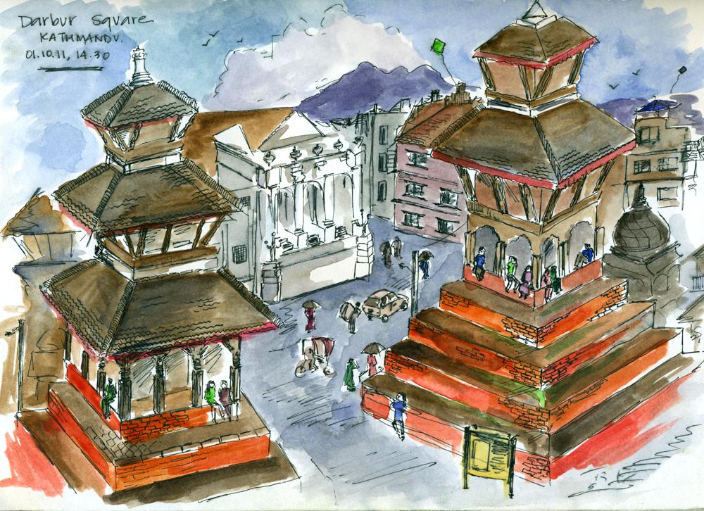 Travel sketch Nepal