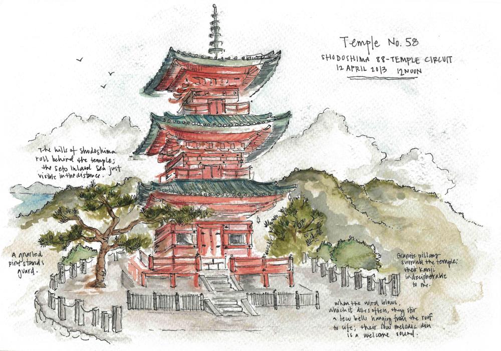 Travel sketch Japan