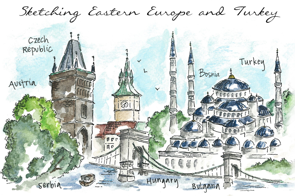Travel sketch Turkey