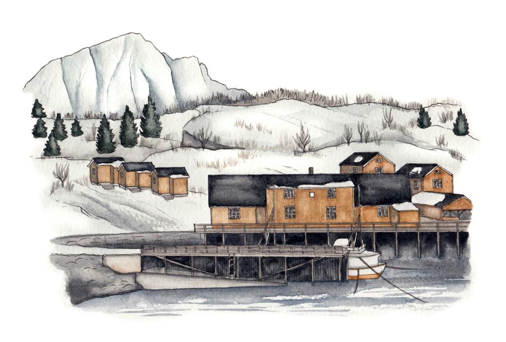 Norway sketch