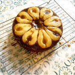 Pear and Cardamom Caramel Cake