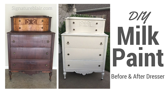 DIY Milk Paint Dresser
