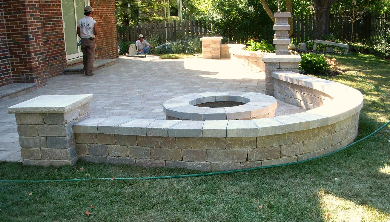 Gallery of Patios and Retaining Walls on Patio Block Wall Ideas id=36415