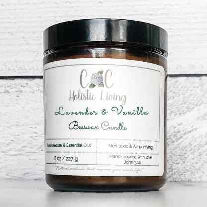 laveender vanilla pure beexwax candle