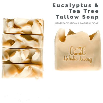 Eucalyptus, Tea Tree, Tallow Soap, Handmade