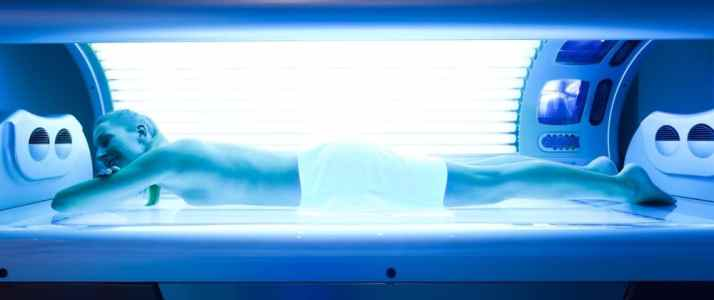 Woman in a Tanning Bed