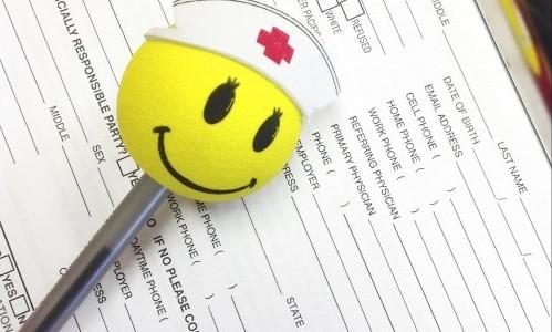 Smiley face clipboard