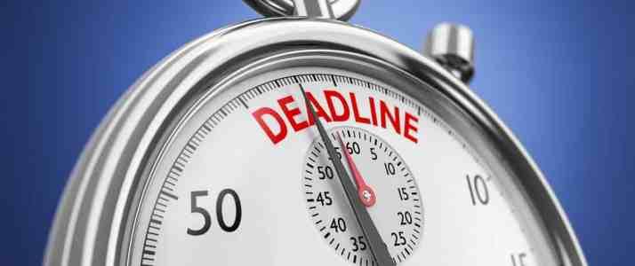 Stopwatch Showing Deadline