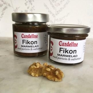 Fikonmarmelad med portvin och valnötter till kex och ost