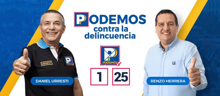 Renzo Herrera Candidatos de Podemos Perú