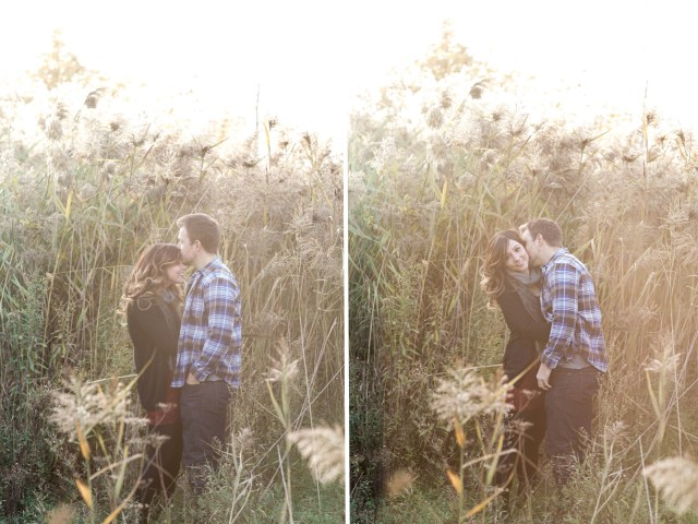 Fall engagement shoot in Boisbriand by Montreal wedding photographer Cassandre Poblah