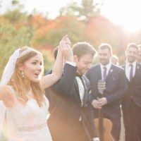 Ashley and Brian's Fall Wedding at Hotel Mont Gabriel