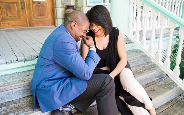 Romantic engagement session at Parc de-la-visation
