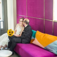 Erin and Simon's Hip and Affordable Wedding at St. Paul Hotel and Les Soeurs Grises