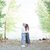 Vanessa and Adam's Beautiful Sunset Engagement