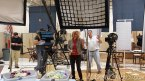 Quilting Arts TV Season 13: The crew and ever awesome Helen Gregory