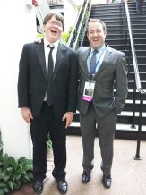 Liam, Principal Trombone of the NAfME All National Honor Orchestra with his band director James Benanti