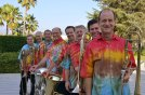 All the teachers at the Pokorney Seminar in Tie Dye!