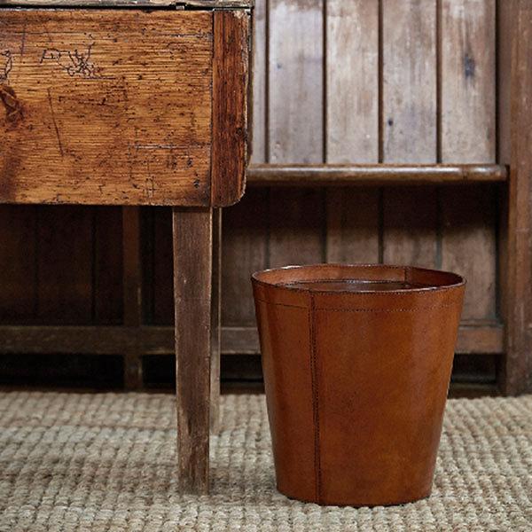 Leather Wastepaper Bins Leather Rubbish Bins Basket
