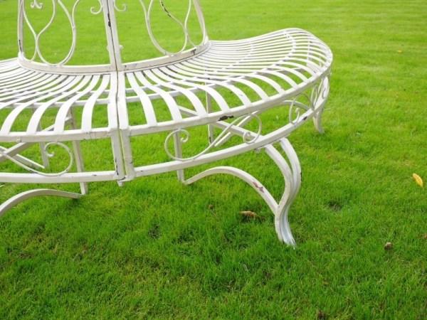 steel roundabout garden bench Metal Garden Bench Metal Patio Furniture Tree Seat