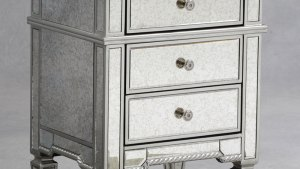 Small Mirrored Bedroom FurnitureGlass Bedside Table