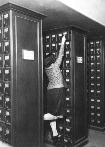 librarian reaching