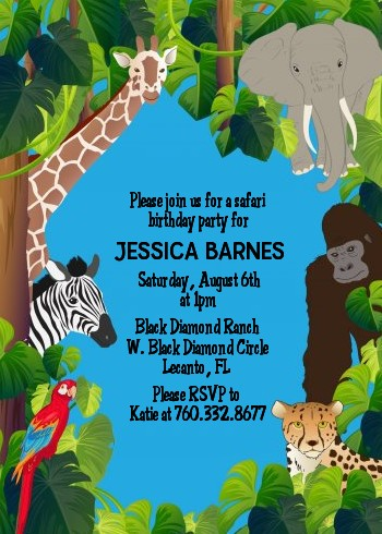 King Of The Jungle Safari Baby Shower Invitations Candles And Favors