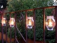 repurpose some jam jars for this DIY idea: Hanging jar lanterns